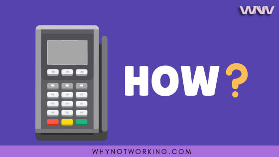 Payment terminal working