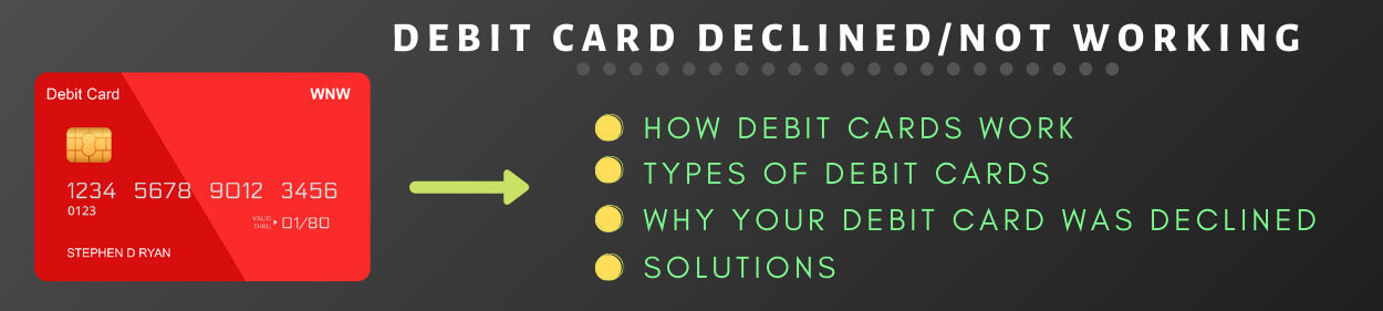 Debit card Declined fixes
