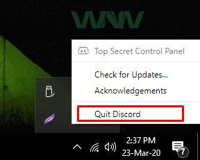 Quit Discord