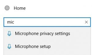 Open microphone settings