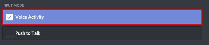 Turn off Discord Voice Activity