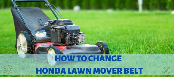 honda mower belt repair