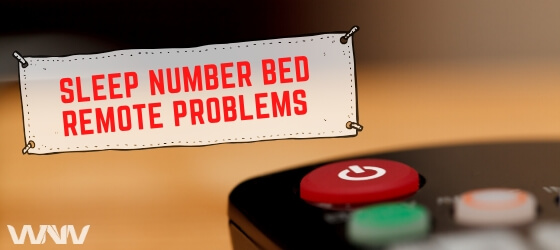 sleep number bed problems with control