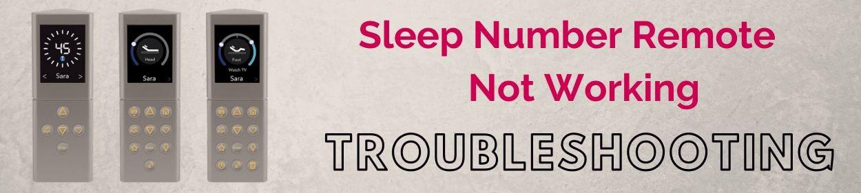 sleep number remote not working - Troubleshooting
