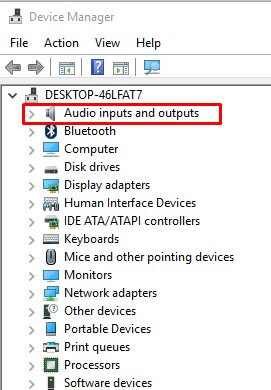 Audio Inputs and Outputs