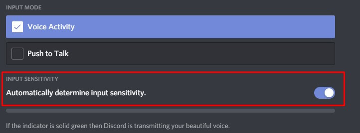 Disable Automatic Sensitivity Discord