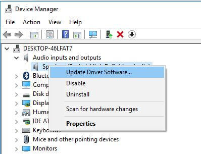 Update Audio Interface Driver