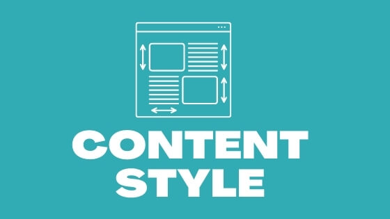 Style of the Content