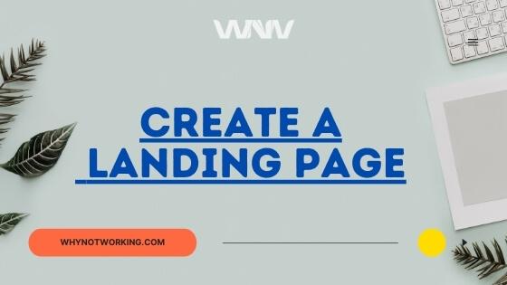 Landing page creation